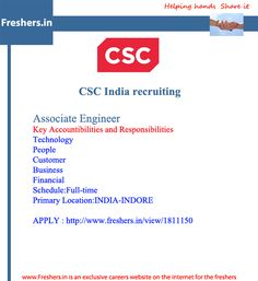 CSC -http://www.freshers.in/view/1811150