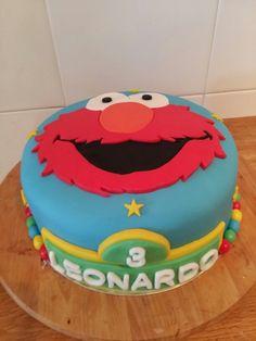 Elmo and sesame street cake #elmo #sesamo #pastel #niño #infantil