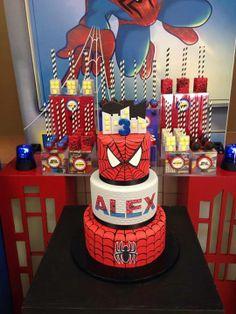 Spiderman dessert table