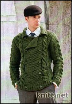 Мужская кофта в классическом стиле | knitt.net | Все о вязании