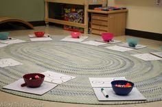 Hands on math activities in a kindergarten classroom-- number of the day