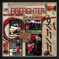 Firefighter  digital scrapbook!!