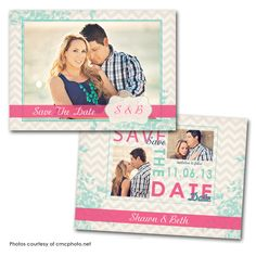 100 Save the Date X printed full color both sides - blank white envelopes (Qty. Save The Date Photos, Save The Date Cards, Wedding Card Design, Wedding Cards, Save The Date Inspiration, Save The Date Templates, Photo Cards, Dating, Messages