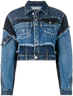 Dolce & Gabbana cropped patchwork denim jacket Source by taniavisinoni denim Amo Jeans, Jeans Denim, Jacket Jeans, Denim Jacket Fashion, Denim Outfits, Patchwork Jeans, Designer Denim Jacket, Diy Vetement, Denim Ideas