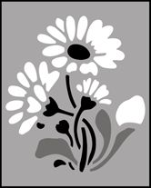 Click to see the actual MS50 - Daisies stencil design.