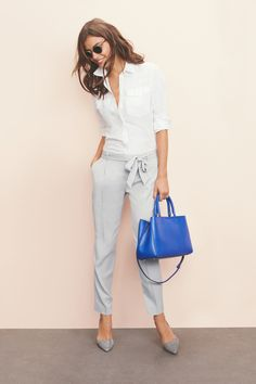 Dress Up or Dress Down | Gray tie-front pants