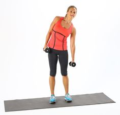 Great for toning the waist and stretching the sides of the body, Side Bend With Dumbbells are a simple move to add to your fitness routine. Standing Ab Exercises, Standing Abs, Stretching, Core Exercises, Oblique Exercises, Oblique Crunches, Fitness Diet, Fitness Motivation, Health Fitness
