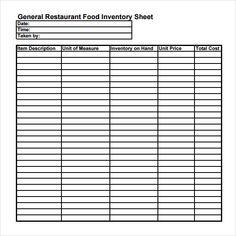 Household Inventory List Template Templates Worksheets Printables Restaurant Sample Resume