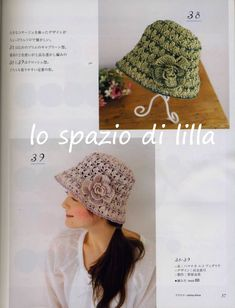 Japanese crochet hats and bags (free patterns) Crochet Summer Hats, Crochet Cap, Crochet Scarves, Crochet Clothes, Japanese Crochet, Knitting For Beginners, Hat Making, Crochet Accessories, Knitted Hats