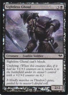 Magic the Gathering Dark Ascension Black Premium Foil Card- Sightless Ghoul #73