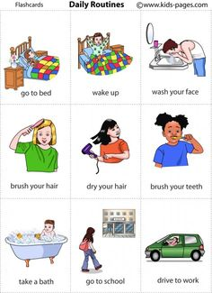 Daily Routines 4 vocabulary