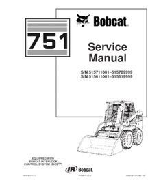 Bobcat 873, 883 skid steer loader service repair manual in