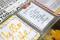 Writing with Stickles - Distress Stickles Glitter Glue in Mustard Seed