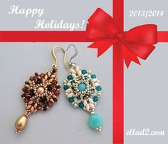 Free beading pattern earrings