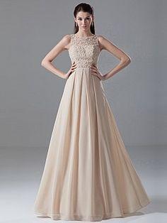 Briar - A-Linie Chiffon Abendkleid mit Perlen und Applikationen - EUR 124,90€