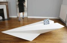 Paper plane coffee table.