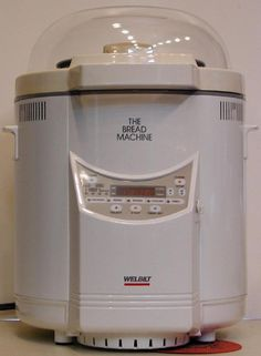 Great Garage Sale Find ... The Bread Machine (this isn't my machine, but this is what it looks like). Very clean, looks to be only lightly used. Two bucks. Sort of looks like R2D2 doesn't it?
