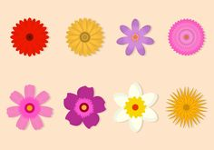 Free Flower Vector Collection