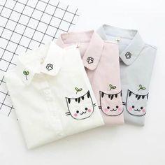 Cute kawaii cat printing shirt SE10800 Use coupon code #cutekawaii for 10% off