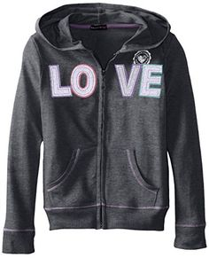 $ 10.00 One Step Up Big Girls' Glitter and Rhinestone Pullover Sweatshirt, Charcoal Heather, Large Long-sleeve hoodie featuring glitter graphic at chest and full-zip front Split kangaroo pocket Perfect for school or home Comfortable Fit Fun Bright Colors One Step Up Big Girls' Glitter and Rhinestone Pullover Sweatshirt, Charcoal Heather, Large