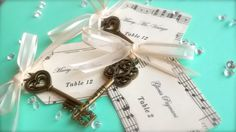 Personalised Key Place Cards/Escort Cards/Name Cards made with Vintage Sheet Music x 15 on Etsy, $33.24 AUD