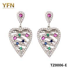 1aed89c42 TZ0006 E Fashion Jewelry 925 Sterling Silver Drop Earrings Top Quality AAA  Cubic Zirconia Earring For Women-in Drop Earrings from Jewelry &  Accessories on ...