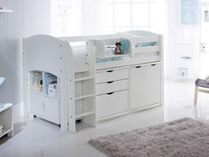 Scallywag Cabin Bed with Chest, Cupboard and Quad unit