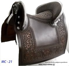 Black Saddle for Peruvian Paso Horse  Available in other colors. perupasohorse@hotmail.com