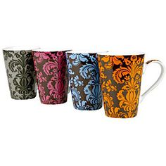 Konitz 'Rocaille' 13-oz Assorted Color Mugs