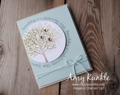 Bending your photopolymer stamps - Sheltering Tree - Stampin' Connection Hand Stamped Cards, Friendship Cards, Creative Cards, Homemade Cards, Stampin Up Cards, Making Ideas, Cardmaking, Paper Crafts, Card Crafts