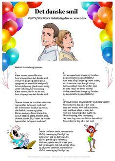 Det danske smil - fødselsdag Kys, Singing, Alice, Entertainment, Words, Party, Inspiration, Musik, Creative