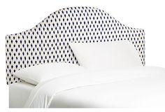 Clinton Headboard, Navy/Ivory | Furniture in Blues, Whites & Metallics | One Kings Lane