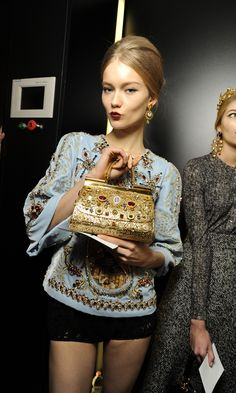 Dolce and Gabbana Fall Winter 2014 Collection. Mosaic inspirations of Byzantium.