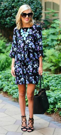 Life with Emily | a life + style blog : Floral Smock Dress