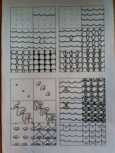 Zentangle stappen Zentangle tutorials