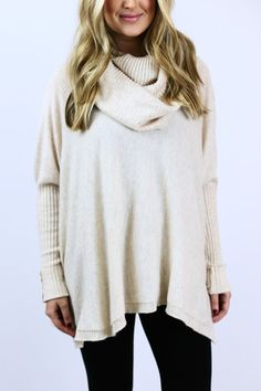 Ivory Cowl Neck Sweater – The Happy Goose Shop