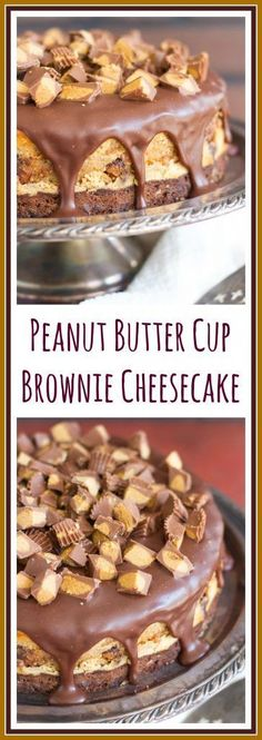 With a thick brownie bottom, luscious peanut butter cheesecake filling, loaded with Reese's cups, and topped with milk chocolate ganache, it is the bomb!