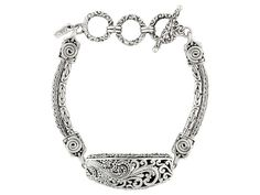 Artisan Collection Of Bali(Tm) Oxidized Sterling Silver Filigree Brace