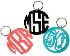monogrammed key chain. too cute!