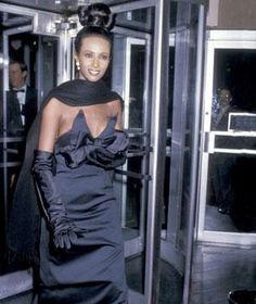 only Iman and only David Bowie's wife could rock that one!.  A Short History of the Little Black Dress
