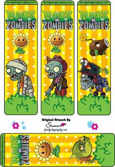 ❤️Free printable plants vs zombies bookmarks & others Zombie Birthday Parties, Zombie Party, Birthday Ideas, 5th Birthday, Monkey Invitations, Birthday Party Invitations, Plants Vs Zombies, Plantas Versus Zombies, P Vs Z