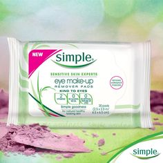 These Simple® Eye Make-Up Remover Pads are AWESOME for travel. #SimpleInspiration