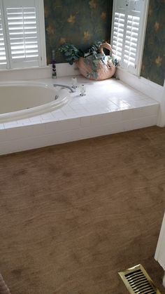 Yes even carpet in the bathroom.  Installed by Final Touch Flooring Group