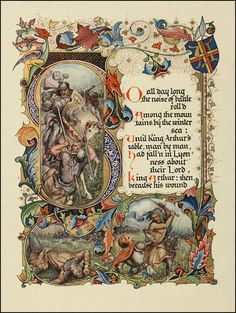 "Alfred Lord Tennyson's Morte d'Arthur ""Designed, Written Out, and Illuminated"" by Alberto Sangorski —1912"