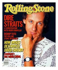Rolling Stone, decades of music info. Mark Knopfler on the cover.
