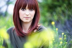 Long+Bob+with+Fringe   long bob with fringe red auburn   Beauty - YES YES YES