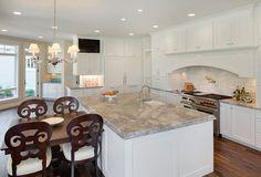 "Family Home Interior IdeasThe countertop is ""Super White"" granite."