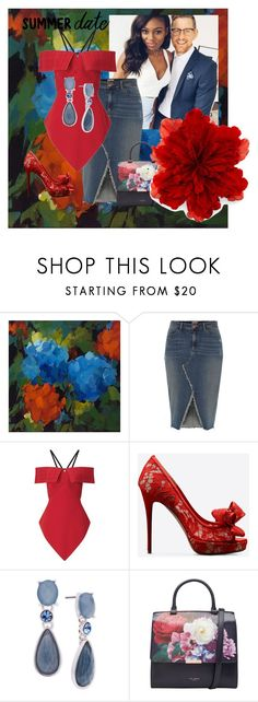 """Roses are Red Violets are Blue"" by venenszia ❤ liked on Polyvore featuring NOVICA, River Island, Roland Mouret, Valentino, Anne Klein, Ted Baker and Gucci"