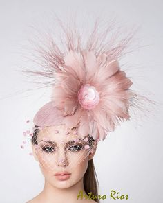 ff2938d102a Melbourne Cup Blush pink Fascinator Cocktail hat by ArturoRios Blush Pink  Fascinator