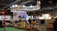 Stand para la Empresa CRM SYNERGIES en el Salón Internacional de Soluciones para la Industria Eléctrica y Electrónica MATELEC en el Recinto Ferial de Ifema en Madrid.